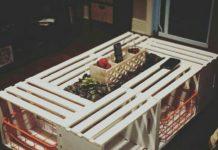 Meyve sebze kasaları ile yapılmış orta sehpe modelleri anlatımlı