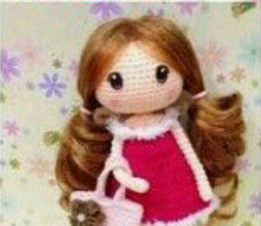 Amigurumi örgü oyuncak uzun saçlı kız bebek modeli yapılışı anlatımlı