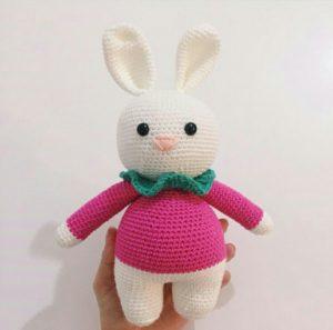 Amigurumi örgü oyuncak tonton tavşan modeli yapılışı anlatımlı