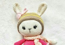 Amigurumi örgü oyuncak şapkalı minik tavşancık modelinin yapılışı anlatımlı