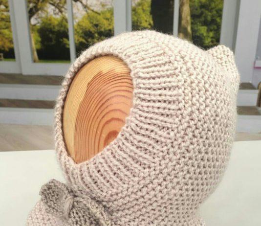 Bebekler için örgü fiyonklu kar maskesi tarifi anlatımlı