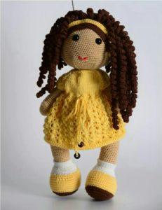 Amigurumi örgü kıvırcık saçlı kız modeli tarifi anlatımlı