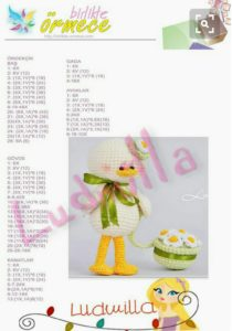 Amigurumi örgü oyuncak papatya şapkalı ördekcik modeli yapımı anlatımlı