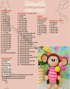 Amigurumi örgü oyuncak balon lu maymuncuk yapımı anlatımlı