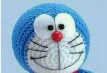 Amigurumi örgü oyuncak çizgi film karakteri kulaksız mavi kedicik tarifi anlatımlı