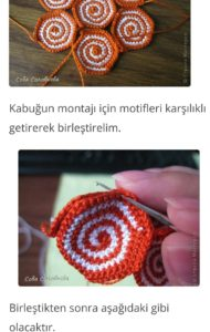 Amigurumi motif kaplumbağa yapımı açıklamalı