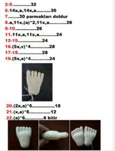 Amigurumi örgü bebek modelleri ve bacakları nasıl yapılır