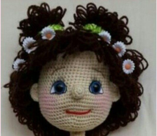 Amigurumi kıvırcık saçlı papatya kız modeli yapılışı anlatımlı