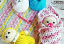 Amigurumi örgü oyuncak emzikli bebek modeli tarifi anlatımlı
