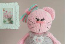 Amigurumi örgü oyuncak tombik pembe kedicik modeli tarifi anlatımlı
