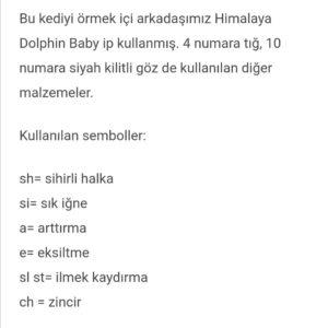 Amigurumi örgü oyuncak modellerinin türkçe tariflerinde kullanılan terimler ve anlamları