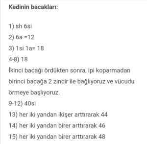 Yurtdışı ücretsiz amigurumi örgü oyuncak modelleri ve türkçe anlatımları