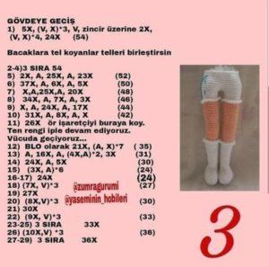 Amigurumi örgü oyuncak modeli bacak yapımı anlatımlı
