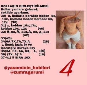 Amigurumi örgü oyuncak modelleri gövde yapımı tarifli