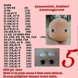 En yeni amigurumi örgü oyuncak mıdelleri baş ve saç yapımı tarifi