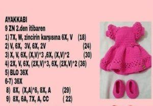 Amigurumi örgü oyunca kız bebeğinin örgü ayakkabı ve örgü patik modelleri tarifi anlatımlı