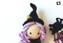 Amigurumi örgü oyuncak cadı modelleri tarifi anlatımlı