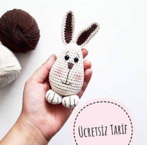 Amigurumi örmeye yeni başlayanlar için kolay ve pratik örgü tavşan modeli tarifi anlatımlı