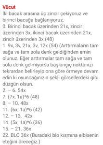 Yurt dışı pattern türkçe çeviri amigurumi örgü oyuncak modelleri anlatımlı