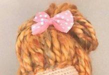 Amigurumi kahverengi topuz saç bebek modeli tarifi anlatımlı
