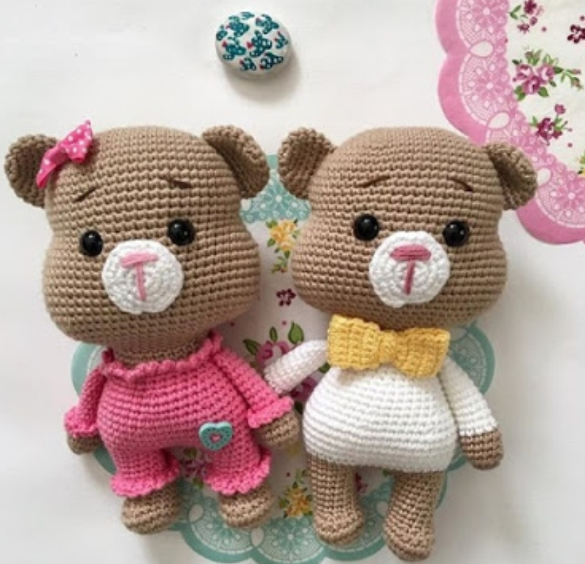 Amigurumi Tombiş Ayıcık Yapılışı-Amigurumi Bear Pattern - Tiny ... | 795x824