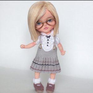 2020 formalı gözlüklü amigurumi örgü öğrenci bebek modelleri