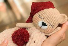 Amigurumi örgü oyuncak uykucu amour ayıcık modeli tarifi anlatımlı