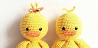 Amigurumi örgü oyuncak şirin ördek modeli tarifi açıklamalı