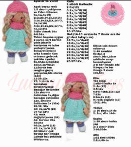 Amigurumi örgü oyuncak sarı saçlı minik kız modeli tarifi anlatımlı ve açıklamalı