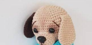Amigurumi örgü mavi tulumlu oyuncak köpek tarifi açıklamalı