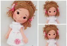 Amigurumi beyaz elbiseli kız modeli tarifi anlatımlı ve açıklamalı