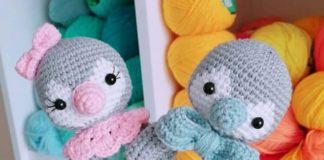 Amigurumi örgü oyuncak çıngırak modelleri