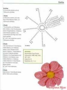 Tığ işi örgü çiçek modeli yapılışı anlatımlı