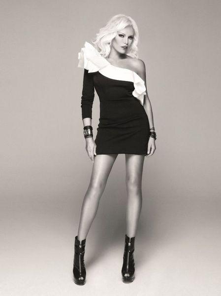 2011 Ajda Pekkan Twist Koleksiyonu - Ajda Pekkan tek kollu siyah mini elbise modeli