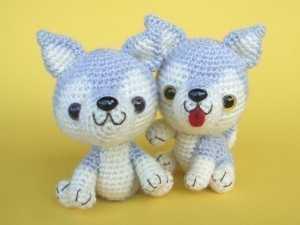 Amigurumi oyuncak yavru köpek modeli