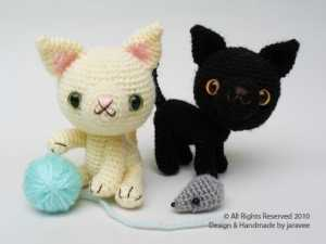 Amigurumi oyuncak yavru kedi modeli