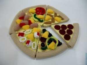 Amigurumi oyuncak pizza modelleri