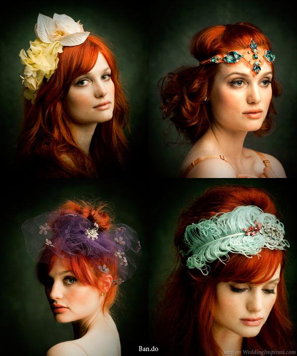 Tüylü saç bandı ve Sultan tacı modelleri