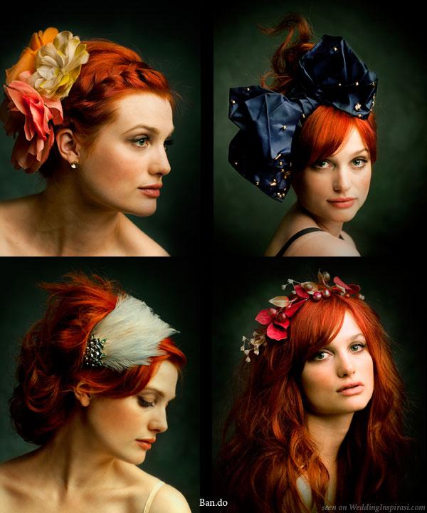 Çiçekli taç modeli ve abiye saç tokaları modelleri