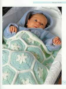 tığ işi bebek battaniyesi yapılışı