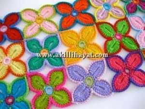 Dört yapraklı çiçek motifli el işi battaniye modeli yapılışı (anlatımlı)