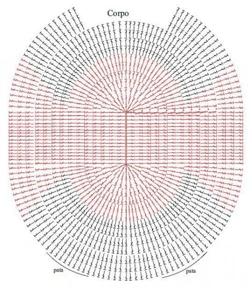 örgü paspas modeli şeması