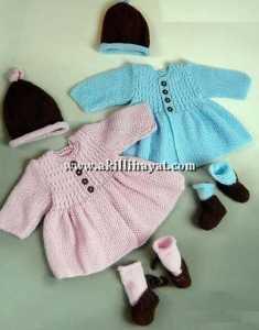 Düğmeli örgü bebek hırkası örnekleri yapılışı (açıklamalı)