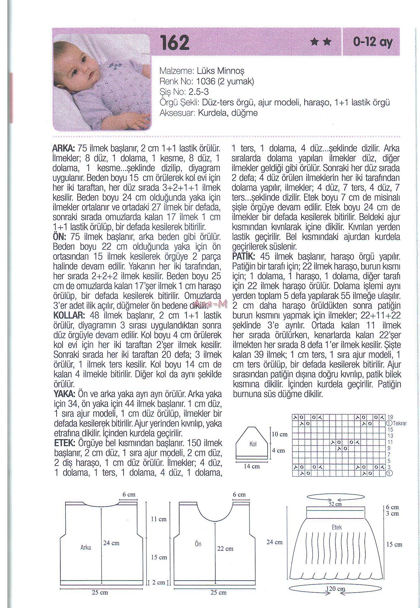 Karpuz Dilimli Bebek Patiği Modeli Anlatımı