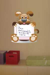 Bebek ve çocuk odaları için tavşanlı yazı tahtası modelleri