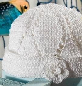 Yaprak Motifli Merserize İpten Yazlık Şapka Modeli Yapılışı (şemalı anlatım)