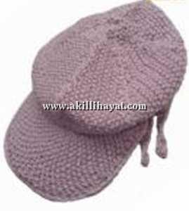 Dilimli spor bayan kasket tarzı örgü şapka modeli yapılışı (açıklamalı)
