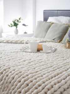 Örgü yatak örtüsü modelleri