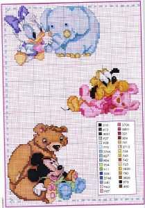 Çocuklar için Disneyland etamin şema modelleri
