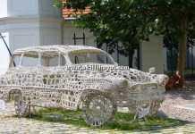 örgü dantel araba modeli